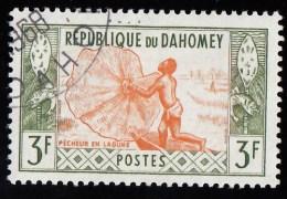 DAHOMEY - Scott #143 Fisherman / Used Stamp - Benin – Dahomey (1960-...)
