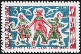 DAHOMEY - Scott #186 Regional Dances (*) / Used Stamp - Benin – Dahomey (1960-...)