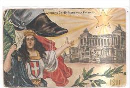 75106) Cartolina-  A Vittorio Emanuele II Padre Della Patria-1911 Nuova - Non Classificati