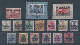 OC 10/25   Obl.  Cote 185.00  (2 Grosses Valeurs Sur Fragments + Obl Centales) - Guerre 14-18