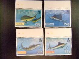 BRITISH INDIAN OCEAN TERRITORY YVERT Nº 169 / 172 **MNH FISH - Territoire Britannique De L'Océan Indien