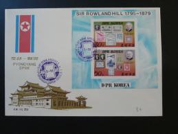Bloc Rowland Hill 1979 FDC Corée Du Nord North Korea - Korea, North