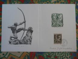 Encart FDC Folder Antoine Bourdelle 1968 Signé Par Sa Fille Rhodia Dufet-Bourdelle - Sculpture