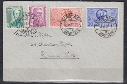Switzerland 1937 Pro Juventute 4v On Cover From Lausanne To London Ca 30 XII 37 (22834) - Pro Juventute