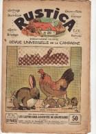 Revue Rustica 6 Mai 1928 32 Pages Jardinage Les Lapins Gris Argentés De Champagne Braconnage Gardiens De Phare - 1900 - 1949