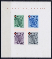French Occ. Zone Baden Bl Nr 2 I Not Used (*) As Issued, NO HOLE IN BACK, SPot In Paper - Franse Zone