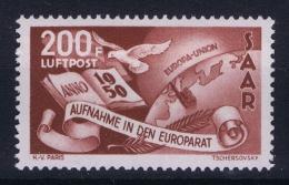 Saar Sarre Mi  298 MH/*  Airmail 1950 - 1947-56 Protectorate