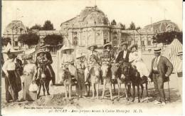 CPA ROYAN  ânes-porteurs Devant Le Casino 11850 - Royan