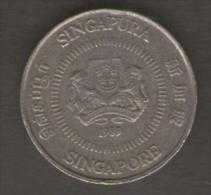 SINGAPORE 10 CENTS 1989 - Singapore