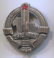 JNA People Army Of YUGOSLAVIA, Border Guards Insignia, Communism, Vintage Pin Badge - Militaria