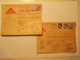 Marcophilie -Lot 2 Lettres Enveloppes Oblitérations Retour Envoyeur (9) - Marcophilie (Lettres)
