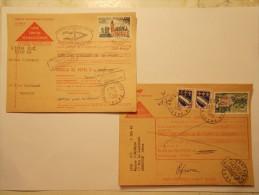 Marcophilie -Lot 2 Lettres Enveloppes Oblitérations Retour Envoyeur (8) - Marcophilie (Lettres)