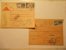 Marcophilie -Lot 2 Lettres Enveloppes Oblitérations Retour Envoyeur (7) - 1849-1876: Période Classique