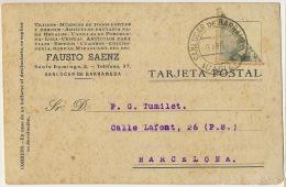 Sanlucar De Barrameda Propaganda Fausto Gomez  Estampilla 1942 Cortada En 2 20 Centavos Franco - Espagne