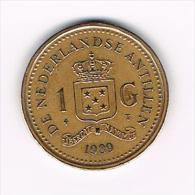 ***  NEDERLANDSE ANTILLEN   1  GULDEN  1989  BEATRIX - Antilles Neérlandaises