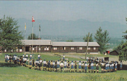 """Girl Guide Provincial Campsite , """"TSOONA"""" , Frasher Valley , B.C.  , Canada , 50-60s : Horseshoe Formation - Scouting"""