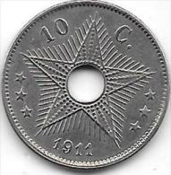 10 Centimes Albert I 1911 FR-FL  Très Belle Qualité++++++++++ - Congo (Belge) & Ruanda-Urundi