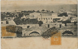 Rhodes Panorama II Postally Used From Smyrne Smyrna Izmir Turkey Former Ruler Of Rhoses Island 1907 2 Stamps - Grèce