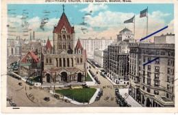 Etats-Unis - Massachusetts - Boston - 1935 - N°212 - Trinity Church, Copley Square, Boston, Mass - Boston