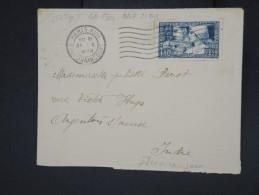 FRANCE - Enveloppe De Paris Pour Argenton/Creuse En 1928 - Aff N°252 Type II - Et Dernier Jour - Rare -  P7679 - Marcophilie (Lettres)