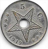5 Centimes Albert I 1919 FR-FL Type III Birmingham Très Belle Qualité+++++ - Congo (Belge) & Ruanda-Urundi