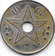 10 Centimes Albert I 1919 FR-FL Type III Birmingham Très Belle Qualité+++++ - Congo (Belgian) & Ruanda-Urundi