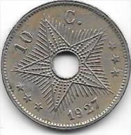 10 Centimes Albert I 1927 FR-FL  Très Belle Qualité+++++ - Congo (Belge) & Ruanda-Urundi
