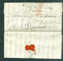 Marque Postale Linéaire  De  26 Pacy Sur Eure  ( 53 X 10 ) Vers 1810/15 Pas De Date Lisible - Malb5301 - Marcophilie (Lettres)