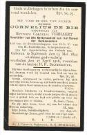 DE BIE Cornelius °1844 Stabroeck +1918 Echt Verhaert Doodsprentje Image Mortuaire Immaginetta Funeral Card - Images Religieuses