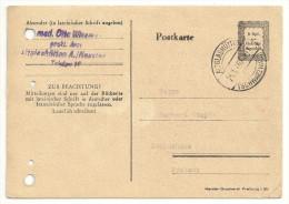 Französische Zone Postkarte Ganzsache GS P 836 I P836 Gestempelt Altglashütten Nach Schluchsee 21.1.46 (4 Löcher!) - Französische Zone