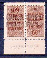 Algérie Colis-postaux N° 9b Neuf * - Paire Tête-bêche - Paquetes Postales