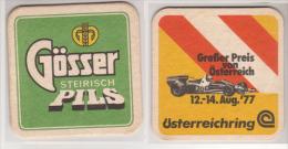 Gösser Brauerei Österreich Steirisch Pils , 1977 , Großer Preis Von Österreich - Bierdeckel