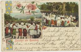 Salutari Din Romania Danse Fete Foraine Manege Dance Merry Go Round Used From Cuba Maier Stern Bucuresti 1902 - Roumanie