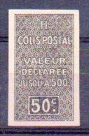 Algérie Colis-postaux N° 16b Neuf * - Non Dentelé + Variété ´Sans Surcharge CONTROLE REPARTITEUR´ - Paquetes Postales