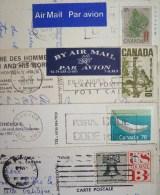 Lot Timbre Oblitere + 7x Cp Canada Quebec Et Montreal Voyagé Voir Photos Pour Timbre  Frais Envoi 1.50 Eur - Quebec
