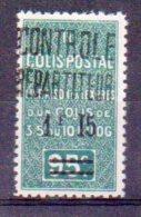 Algérie Colis-postaux N° 28a Neuf * - Chiffre 1 Modifié + Variété ´Point Après F Absent´ - Paquetes Postales