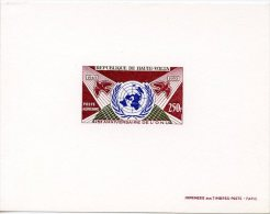 Upper Volta, 1970, UN Anniversary, MNH Imperf Deluxe Sheet, Michel 309 - Obervolta (1958-1984)