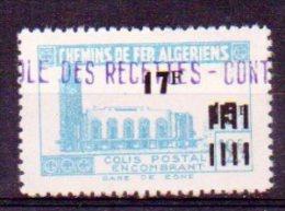 Algérie Colis-postaux N° 183a Neuf * - Variété ´Surcharge 17F Au Milieu Du Timbre´ - Paquetes Postales