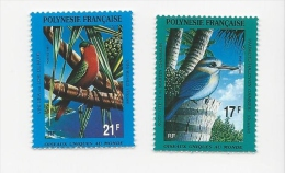 FRENCH POLYNESIA 1991 Sg  614 -5 Brds Set MNH - Birds