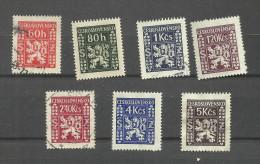 Tchécoslovaquie Service N°8 à 14 Cote 2.40 Euros - Official Stamps