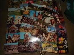 Lot De  93  Cartes Postales Sur Le Theme Des Indiens En Amerique - Cartes Postales