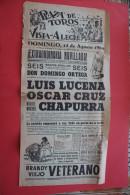 AUG 1960 Cartel Publicitario VISTA-ALLEGER AFFICHE PUBLICITAIRE ESPANA ESPAGNE NOVILLADA DOMINGO ORTEGA  LUIS LUCENA OSC - Afiches