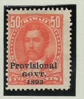 USA Hawai 1893 Mi# 55 * Falz 50Cent - Hawaï