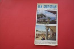 VINTAGE 1955 FOLLETOS TURISTICOS  SAN SEBASTIAN ESPANA ESPAGNE SPAIN EDITE PAR CENTRE ATTRACTION TOURISTIQUE - Folletos Turísticos