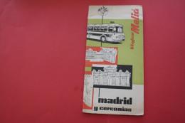 VINTAGE 1955 FOLLETOS TURISTICOS MADRID+PLAN GUIDE  Excursions  ESPANA ESPAGNE SPAIN DEPLIANT  ATTRACTION TOURISTIQUE - Folletos Turísticos