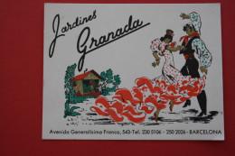 VINTAGE 1957 FOLLETOS TURISTICOS JARDINS GRANADA BARCELExcursions  ESPANA ESPAGNE SPAIN DEPLIANT  ATTRACTION TOURISTIQUE - Folletos Turísticos