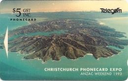 New Zealand - Christchurch Phone Expo, Event Cards, CC1BO, 1992, 10.000ex, Used - Neuseeland
