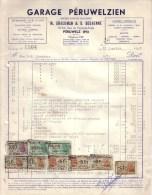 BELGIQUE - PERUWELZ - MOTO SAROLEA , VICTORIA , HOREX - GARAGE PERULWELZIEN , BRACKMAN & DECHENNE - 1953 - Belgique