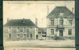 """n�840 - Argenton-chateau - l'hotel de ville et la gendarmerie   """" traces d'humidit�)   - rau20"""
