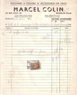 BELGIQUE - BRUXELLES - MACHINE A COUDRE & ACCESSOIRES - MARCEL COLIN - 1952 - Belgique
